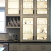 Blenheim Kitchen, Glass Cabinet Detail