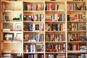 Blenheim Living Space, Bookshelf Wall