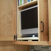 Charter Oaks Kitchen, Pocket Door Detail