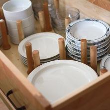 Charter Oaks Kitchen, Plate Drawer Detail