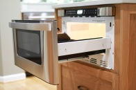 Charter Oaks Kitchen, Microwave Drawer Detail