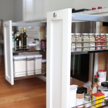 Evergreen Kitchen, Vertical Storage Detail