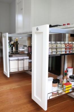 Evergreen Kitchen, Vertical Storage Detail
