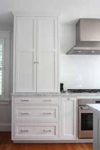 Evergreen Kitchen, Pocket Door Detail