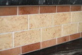 Little High Kitchen, Wooden Tile Detail