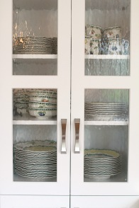 Old Forge Kitchen, Glass Cabinet Detail