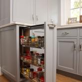 Esmont Kitchen, Vertical Storage Detail
