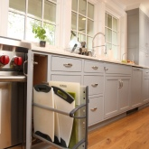 Esmont Kitchen, Vertical Storage Detail