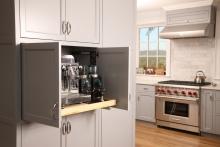 Esmont Kitchen, Pocket Door Detail