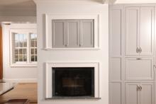 Esmont Living Space, Pocket Door Detail