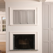 Esmont Living Space, Pocket Door Detail
